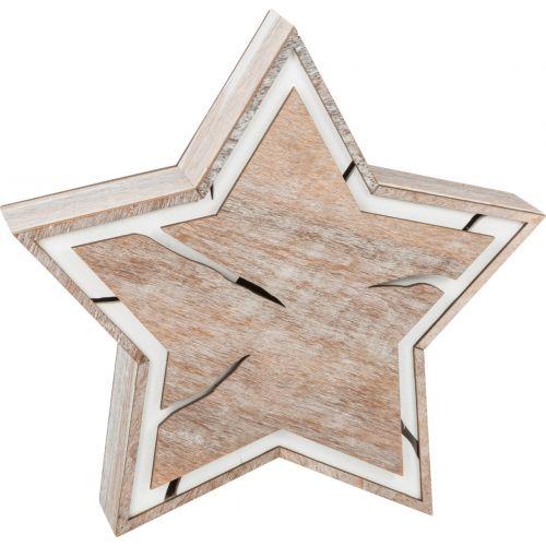 Estrella brillante, diseño corteza de árbol, compacto