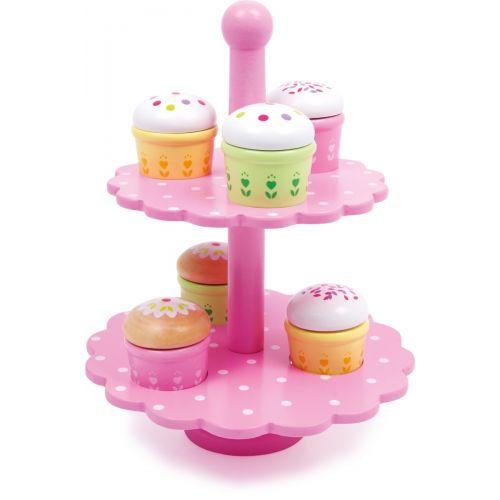 Estantería de Muffins - Juguete de madera - 13 piezas