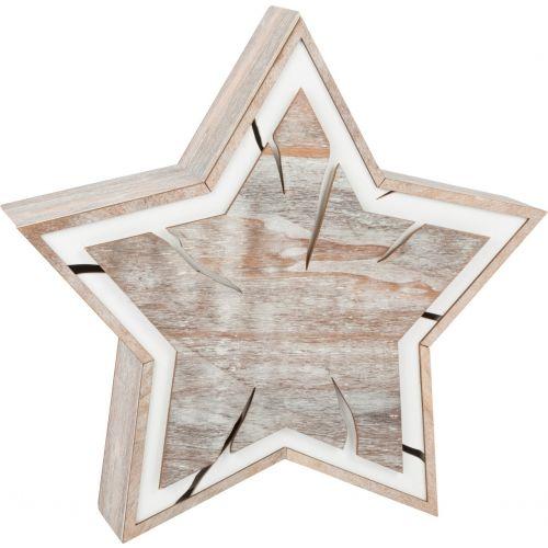 Estrella brillante grande con luz, 34 x 7 x 32 cm