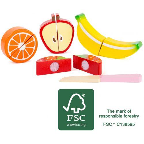Set de frutas - Juguete de madera - 9 piezas