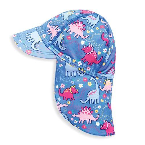 Gorra de Protección Solar Dinosaurios Rosas