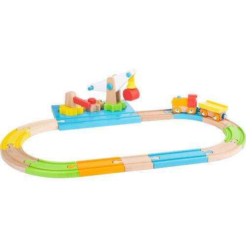 Grúa y tren de madera Junior
