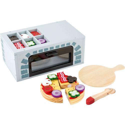 Horno para pizza - Juguete de madera - 25 piezas