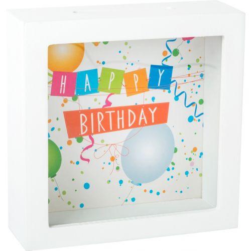 Hucha Marco de fotos Happy Birthday