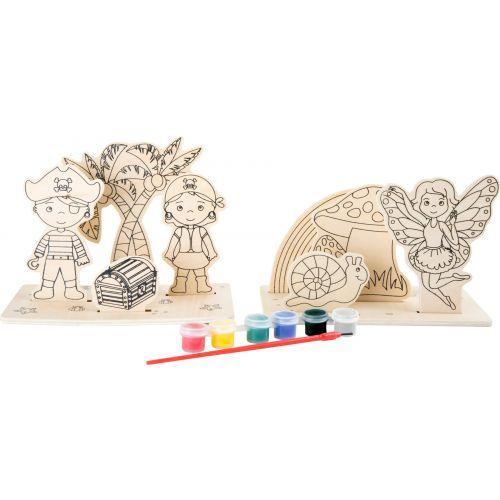 Imágenes para colorear de madera Piratas y Hadas
