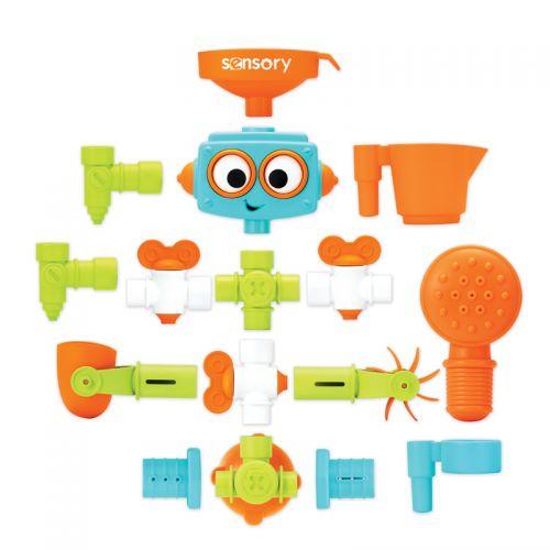 Infantino , Juguete de Baño Robot Sensorial Plus & Play
