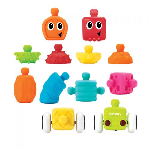 Set de Bloques sensoriales Infantino , 12 piezas