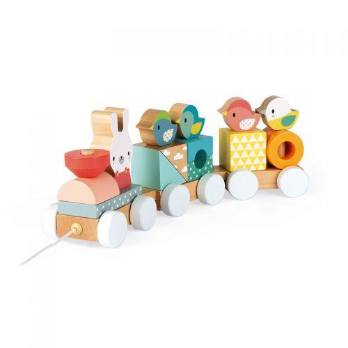 Janod Pure Train , juguete de madera , a partir de 12 meses