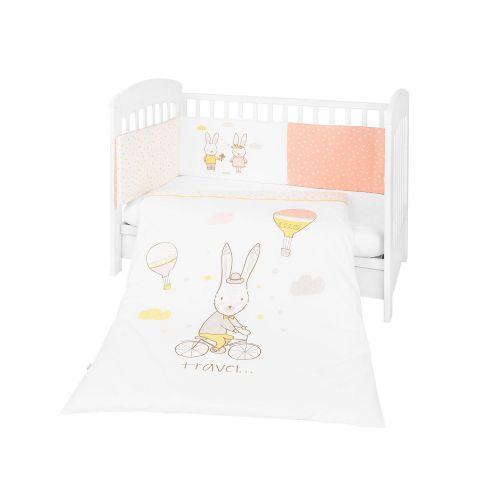 Juego de cuna 2 piezas Rabbits in Love , para cuna de 60 x 120 cm
