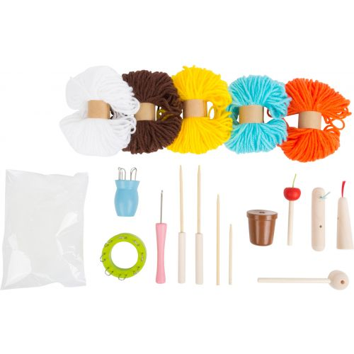 Juego de tejer con Varios accesorios y Elementos de madera