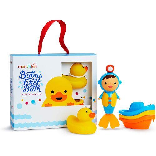 Juego de 3 juguetes de baño para el primer baño del bebé , Munchkin