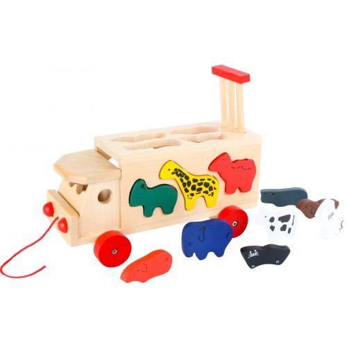 Juego de madera Coche del Zoo con Animales