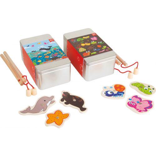Juego de pesca en caja metálica - Set de 2 - 3 años +