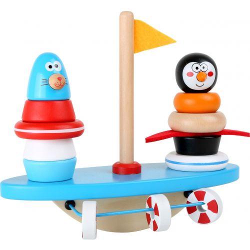 Juego para ensartar y balancín Polo Sur