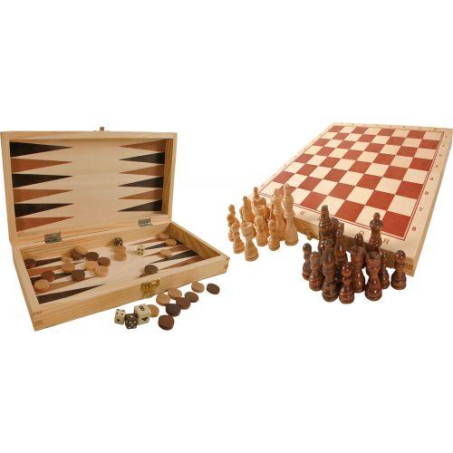 Juegos Clásicos en Maletín de madera - A partir de 6 años