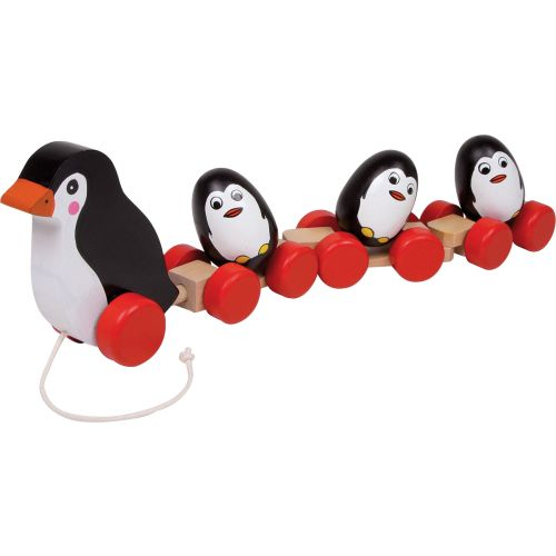 Juguete de arrastre Familia de pingüinos