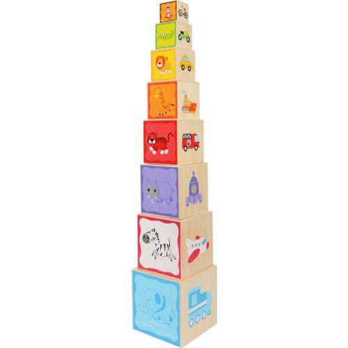 Juguete Cubos apilables de Madera - 73 cm