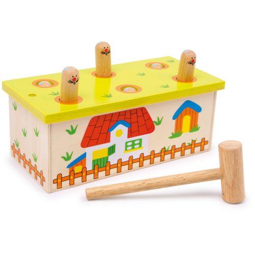 Juguete de madera con Martillo Dale al gusano