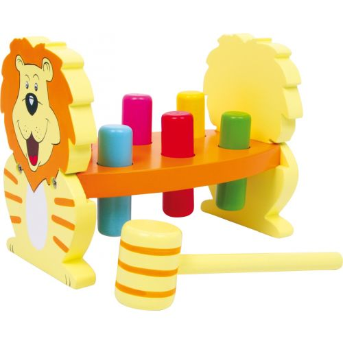 Juguete de madera para golpear León