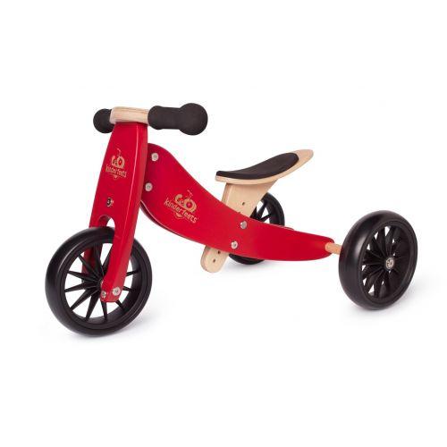 Kinderfeets Tiny Tot 2 Rojo Cereza , se transforma en Bicicleta , a partir de 12 meses