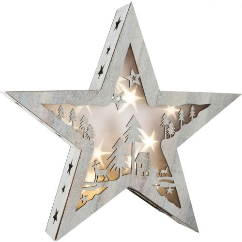 Lámpara de Navidad Estrella Shabby Chic