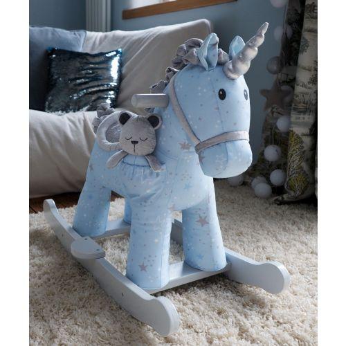 Unicornio Balancín Azul de Madera - 9m+