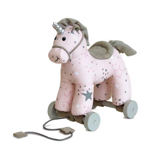Celeste Unicornio con Ruedas y Cuerda