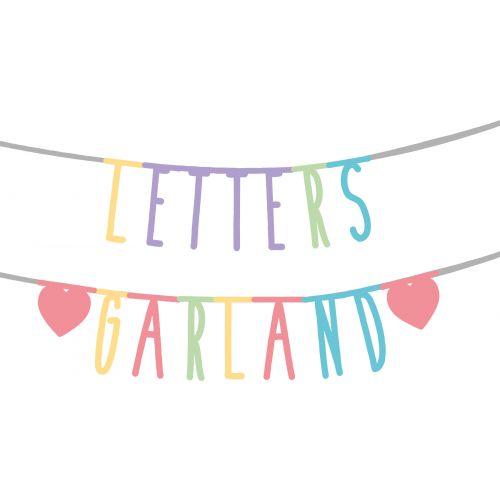 Letras de papel para Guirnalda
