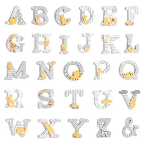 Letras de Madera Infantiles Unisex