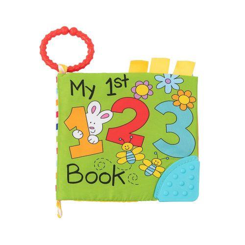 Libro educativo de tela con mordedor 123