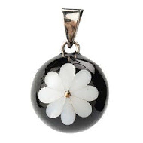 Llamador de Ángeles Negro Flor Blanca - Babylonia