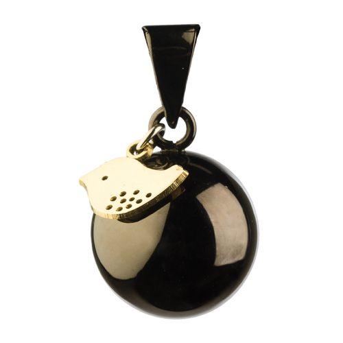 Llamador de Ángeles Plateado con Pajarito