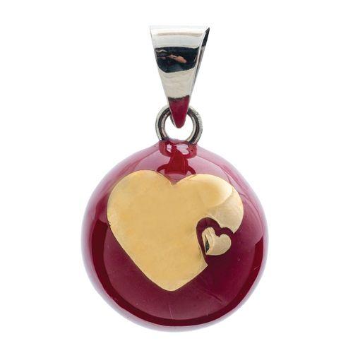 Llamador de Ángeles Rojo con Corazón