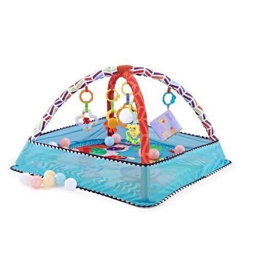 Gimnasio para Bebés con piscina de bolas Blue Animals , incluye 18 bolas