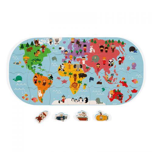Mapa del mundo de Baño , Janod