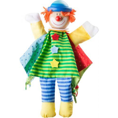 Marioneta Payaso , con cabeza de madera