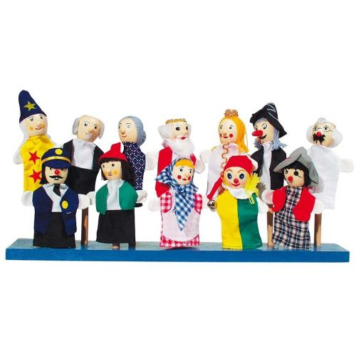 Juego de marionetas de Dedo , 12 unidades - Goki
