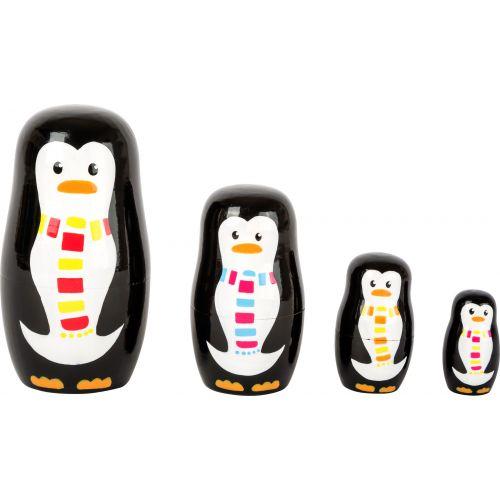 Matrioska Familia de Pingüinos - Juguete de Madera