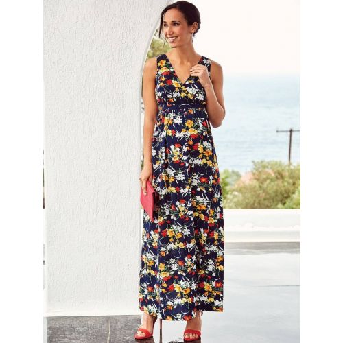 Maxi Dress de fiesta premamá Navy Floral