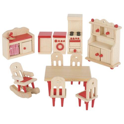 Mobiliario de cocina para casa de muñecas , Goki
