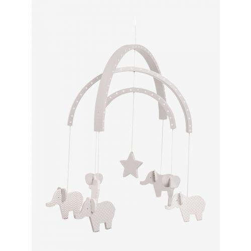 Móvil  para Recién Nacido Elefantes Grises de madera