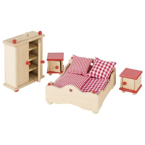 Muebles para dormitorio de casa de muñecas con Cama , Goki