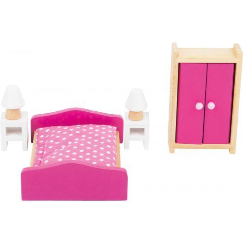 Muebles para habitaciones de muñecas - 6 piezas