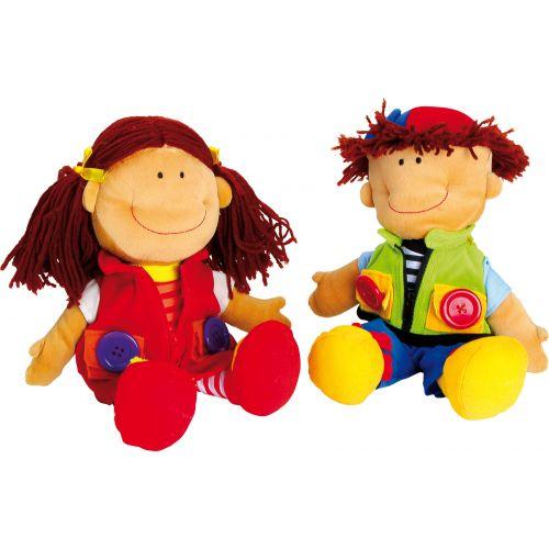 Muñecos de tela Nicoletta y David