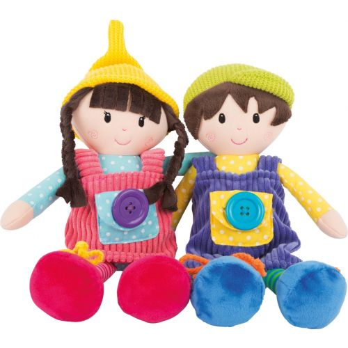 Muñecos de tela Noah y Emma