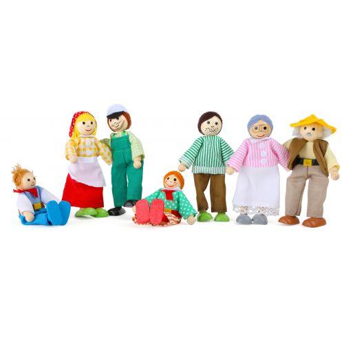 Muñecos flexibles, Granja , 7 unidades