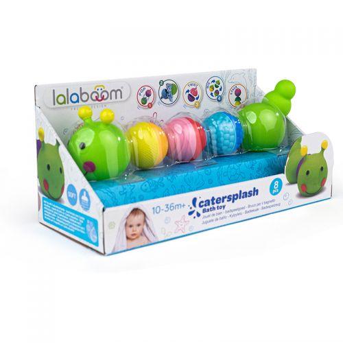 Juguete de baño Oruga y cuentas - Lalaboom - 3 perlas y accesorios