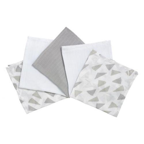 Pack de 5 Muselinas de algodón Sparkling – Clair de Lune