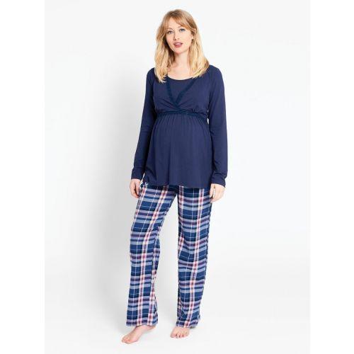 Pantalón de Pijama Premamá y Post-Parto Cuadros