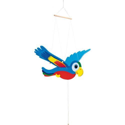 Papagayo de madera - Muy colorido